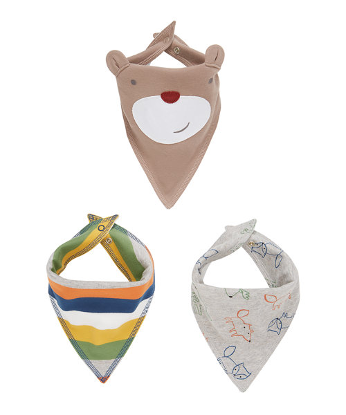 Little Trapper Bandana Bibs - 3 Pack