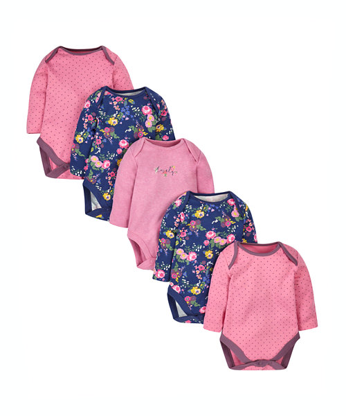 Autumn Floral Bodysuits - 5 Pack
