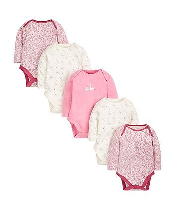 Little Swan Bodysuits - 5 Pack