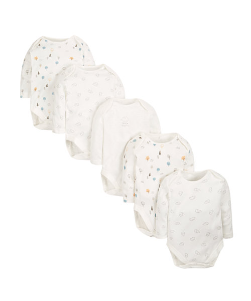Little Hedgehog Bodysuits - 5 Pack