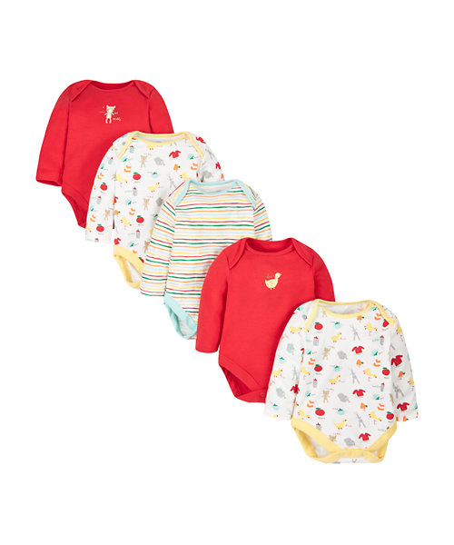Teddy Bodysuits - 5 Pack