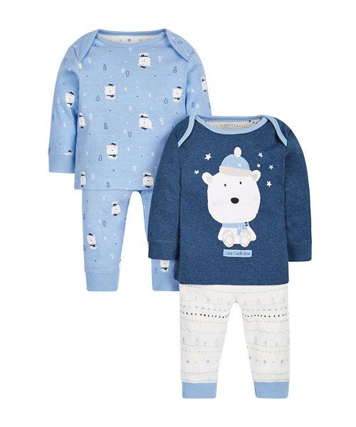 Little Cuddle Bear Pyjamas - 2 Pack
