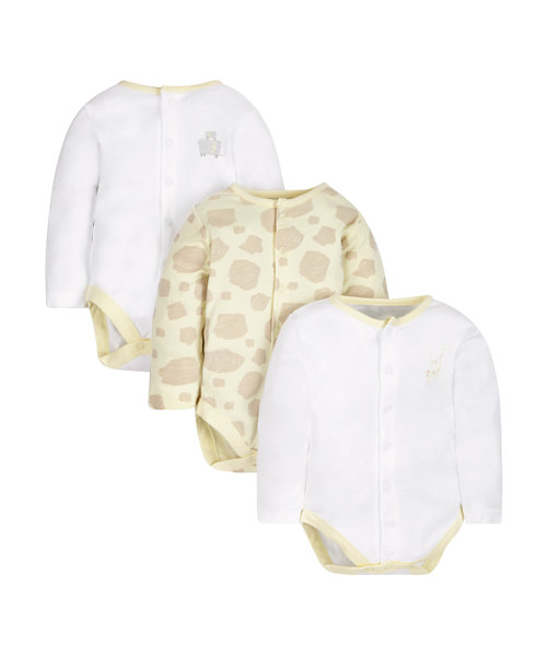 Giraffe and Elephant Bodysuits - 3 Pack