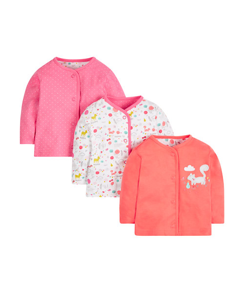 Woodland Animals Tops - 3 Pack