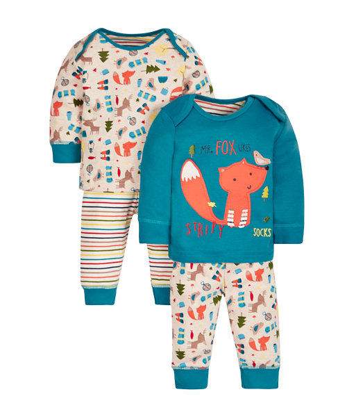Woodland Fox Pyjamas - 2 Pack