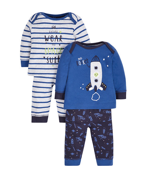 Space Pyjamas - 2 Pack