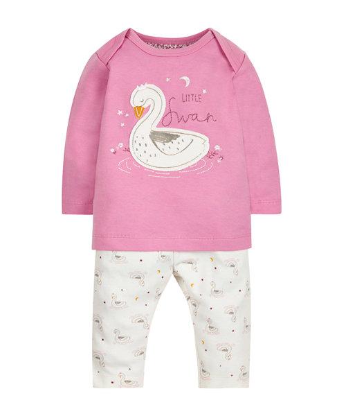 Pretty Swan Pyjamas