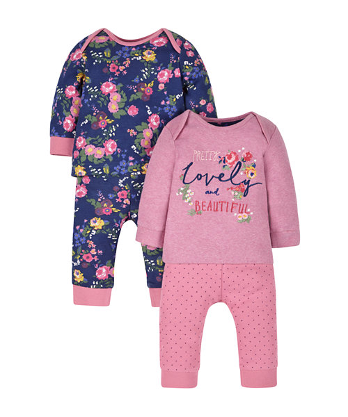 Autumn Floral Pyjamas - 2 Pack