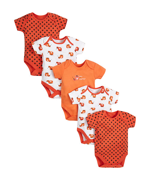 Tiger Bodysuits - 5 Pack