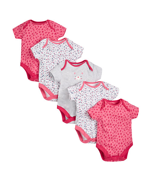 Cat Bodysuits - 5 Pack
