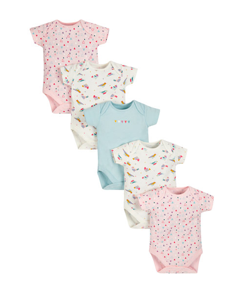 Birdy Bodysuits - 5 Pack