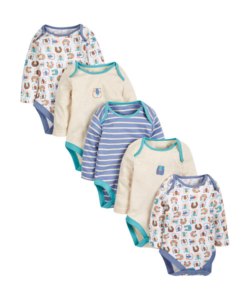 Bear Sleepsuits - 5 Pack