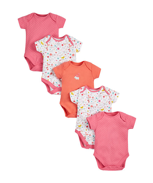 Woodland Friends Bodysuits - 5 Pack