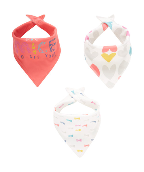 Little Mouse Bandana Bibs - 3 Pack size new baby 7.5lbs