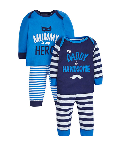 Mum and Dad Pyjamas - 2 Pack
