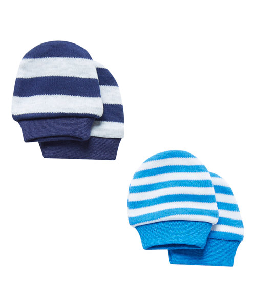 Striped Mittens - 2 Pack