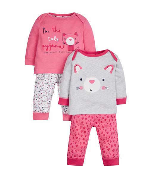 Cat Pyjamas - 2 Pack
