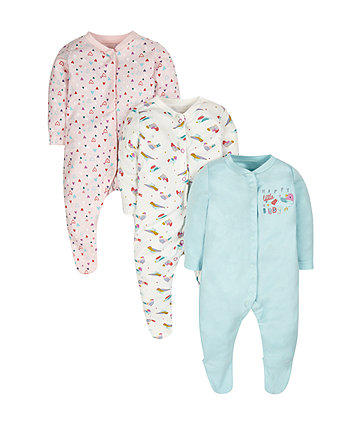 Birdy Sleepsuits - 3 Pack