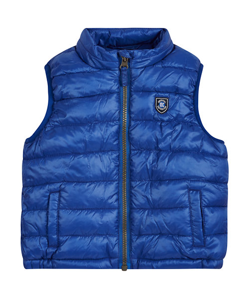 Blue Fleece Lined Gilet