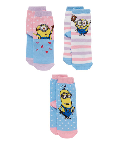 Minion Socks - 3 Pack