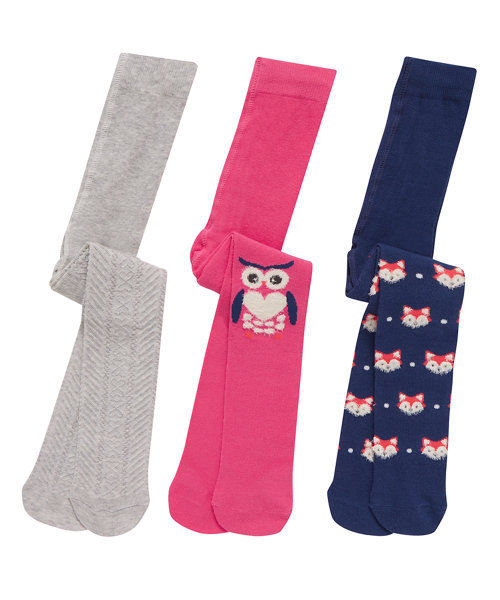 Novelty Animal Tights - 3 Pack