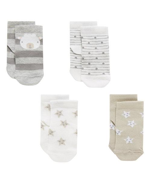 Little Sheep Socks - 4 Pack