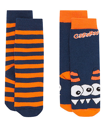 Monster Welly Socks - 2 Pack