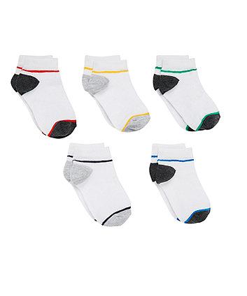 Sports Trainer Liner Socks - 5 Pack