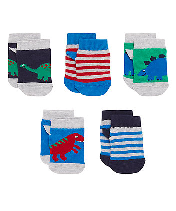 Dinosaur Trainer Socks - 5 Pack