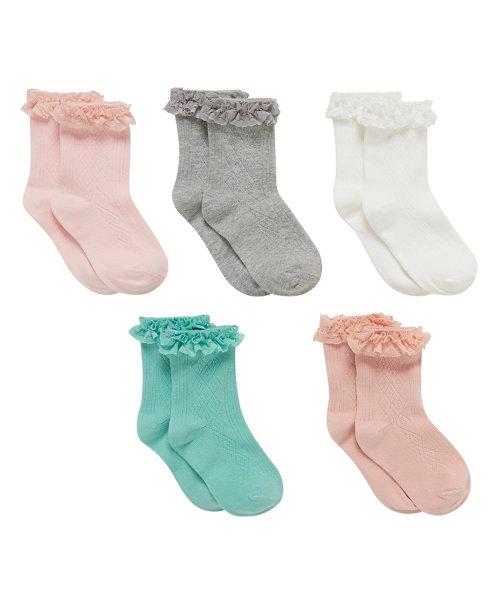 Lace Socks - 5 Pack