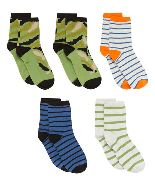 Stripe Socks - 5 Pack