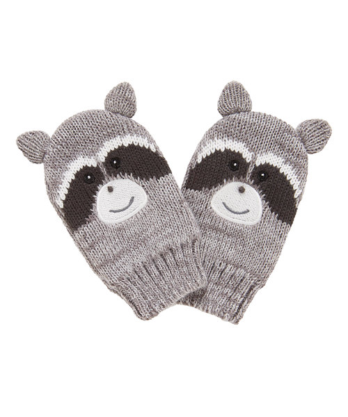 Novelty Raccoon Mittens