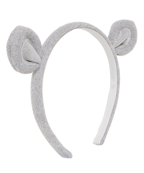 Grey Mouse Ear Alice Band