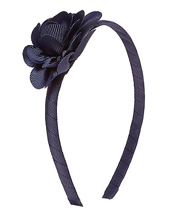 Navy Corsage Alice Band