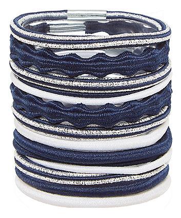 Navy Hair Ties - Multi Pack