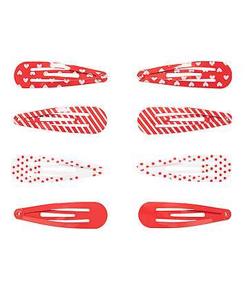 Red Click Clack CLips - 8 Pack