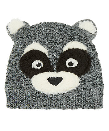 Mothercare Novelty Raccoon Beanie