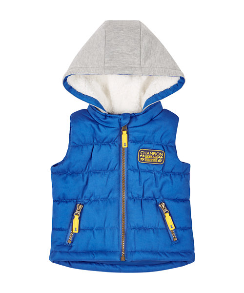 Blue Hooded Gilet