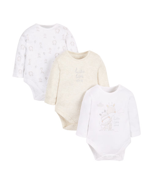 My First Little Zoo Bodysuits - 3 Pack