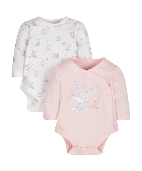 My First Little Bunny Bodysuits - 2 Pack