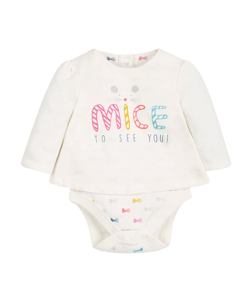 Double Layer Bow Bodysuit