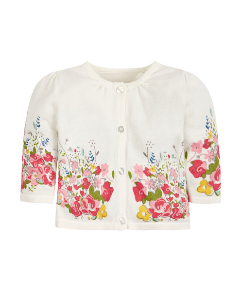Cardigan with a floral pattern