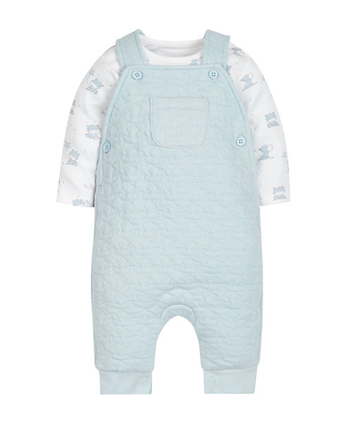 My First Bonded Dungaree and Bodysuit Set
