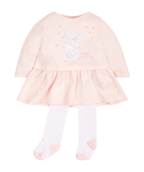 Little Bunny Dress and Tights Set