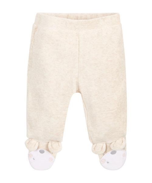 Cream Velour Leggings