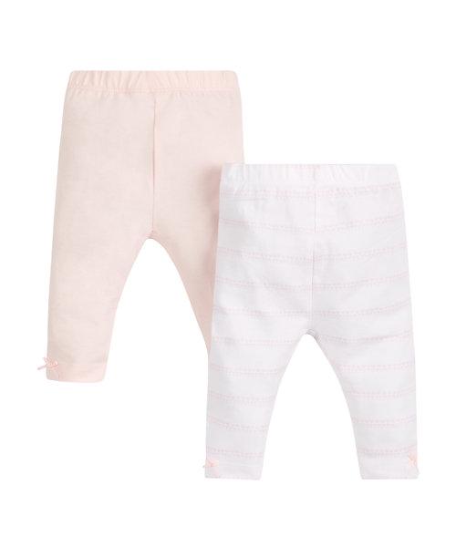 Pretty Pink Stripe Leggings - 2 Pack