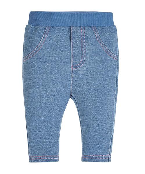Ribwaist Denim leggings