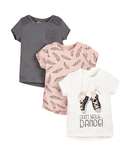 Dance T-Shirts - 3 Pack