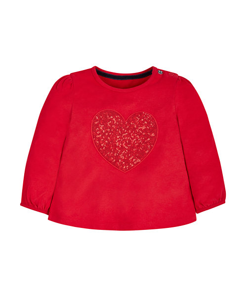 Red Sequin Heart T-Shirt