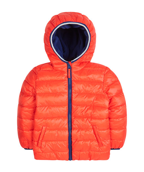 Neon Red Puffa Coat